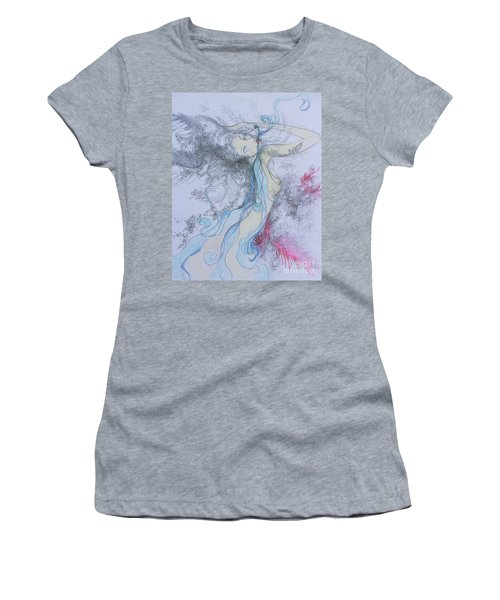 Blue Smoke And Mirrors Women's T-Shirt (Athletic Fit)