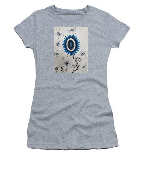 Blue Sunflower Women's T-Shirt (Athletic Fit)