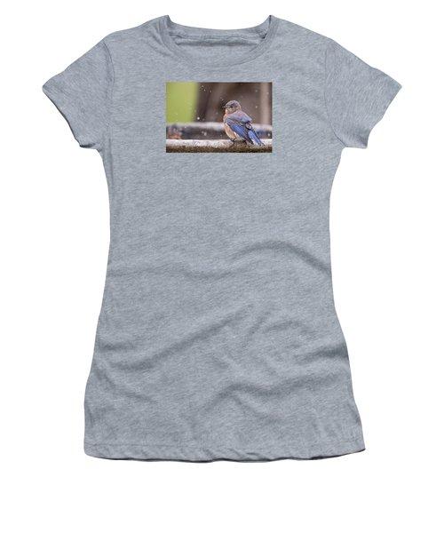 Bluebird Bubble Bath Women's T-Shirt (Athletic Fit)