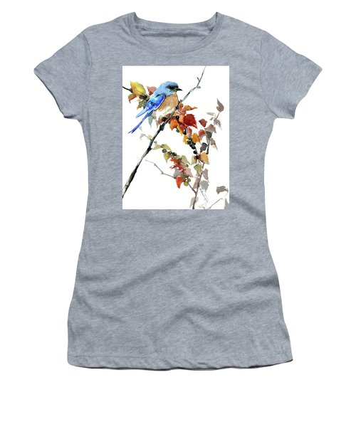 Bluebird In The Fall Women's T-Shirt (Athletic Fit)