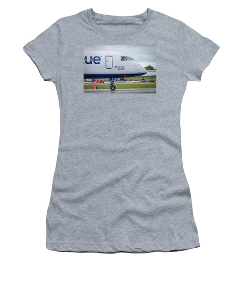 Women's T-Shirt (Athletic Fit) featuring the photograph Blue's Your Daddy? by Guy Whiteley