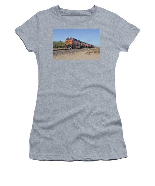Women's T-Shirt featuring the photograph Bnsf7890 by Jim Thompson