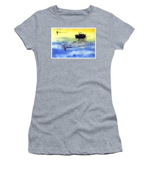 Boat And The Seagull Women's T-Shirt