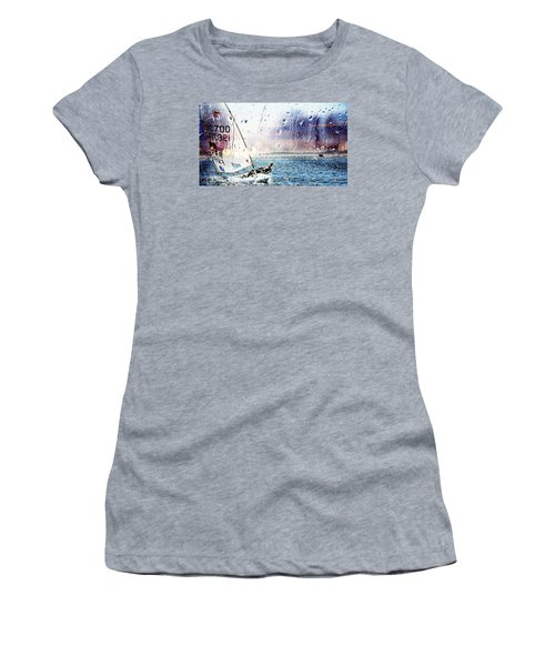 Boat On The Sea Women's T-Shirt (Athletic Fit)