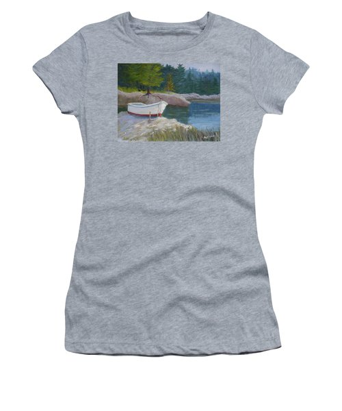Boat On Tidal River Women's T-Shirt