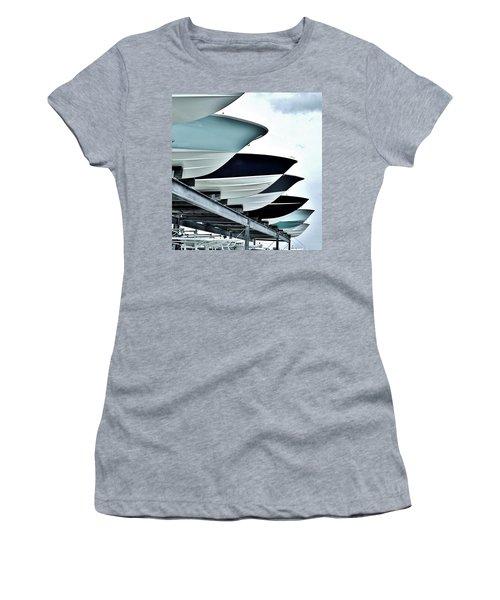 Boatyard, Tiki 52 Women's T-Shirt (Junior Cut) by John Wartman