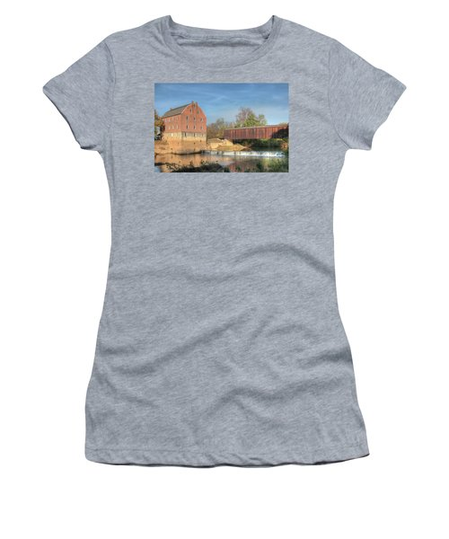 Bollinger Mill And Burfordville Covered Bridge Women's T-Shirt