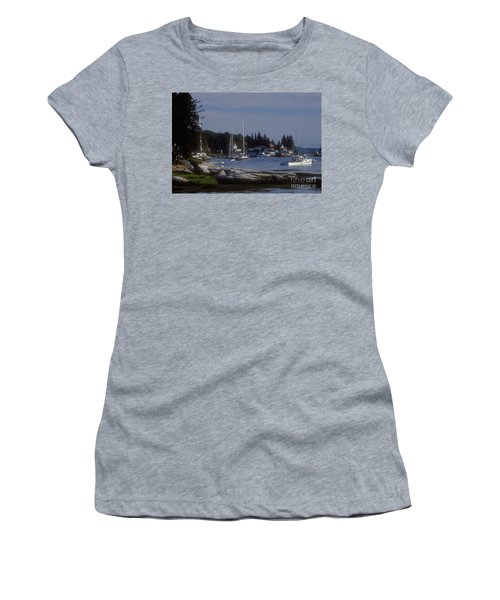 Boothbay Harbor In Maine Women's T-Shirt (Athletic Fit)