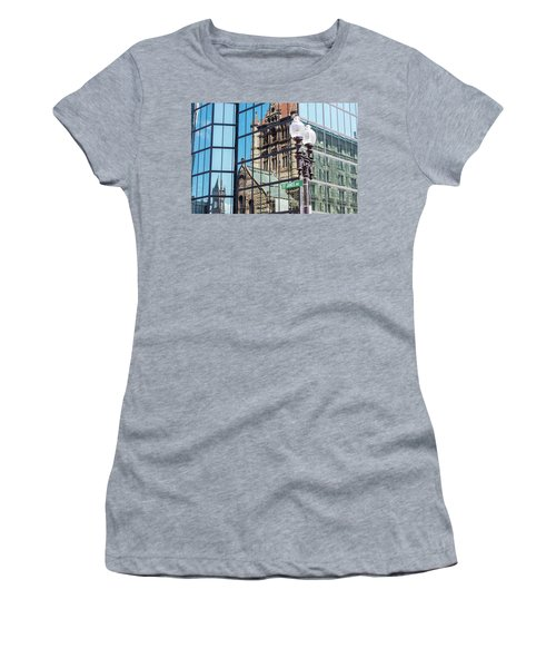Boston At Different Angle Women's T-Shirt (Athletic Fit)