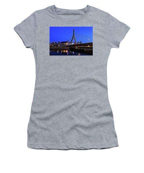 Boston Garden And Zakim Bridge Women's T-Shirt (Athletic Fit)