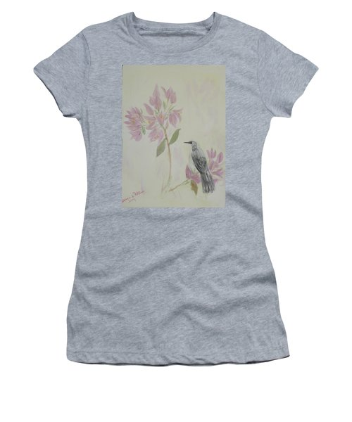 Bougainvillea And Mockingbird Women's T-Shirt