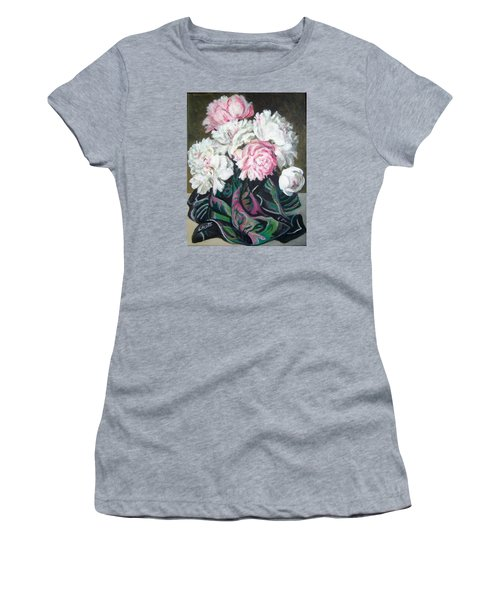 Bouquet Of Peonies Women's T-Shirt (Junior Cut) by Laura Aceto
