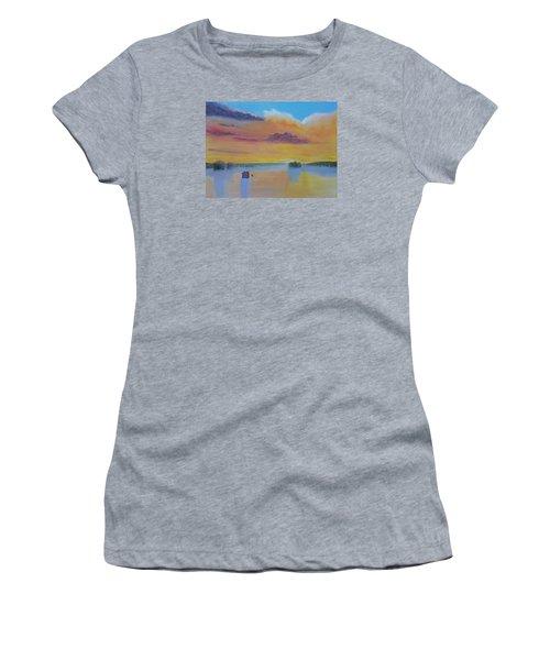 Bow Lake Ice Fishing Women's T-Shirt