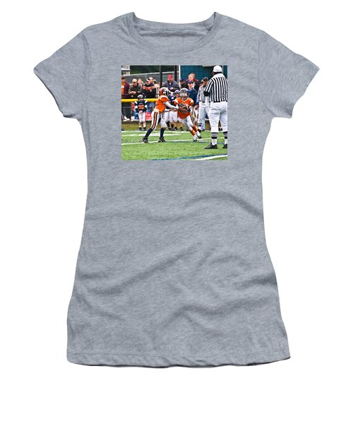 Boys Football Women's T-Shirt (Athletic Fit)