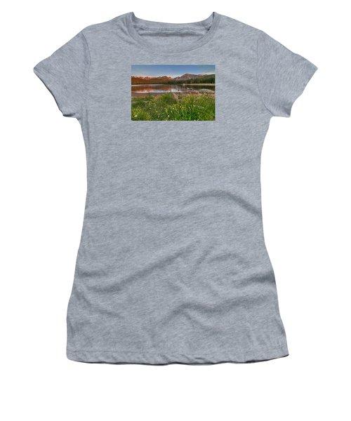 Women's T-Shirt (Junior Cut) featuring the photograph Brainard Lake by Gary Lengyel