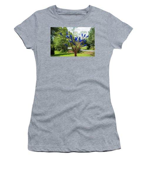 Brass Tree, Blue Bottle Leaves Women's T-Shirt