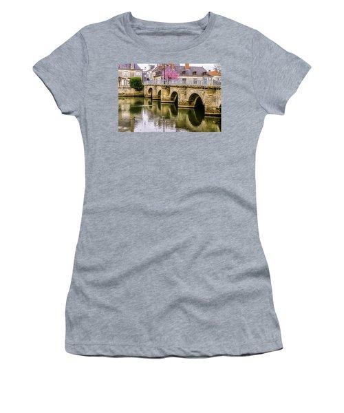 Bridge In The Loir Valley, France Women's T-Shirt (Junior Cut) by Menachem Ganon