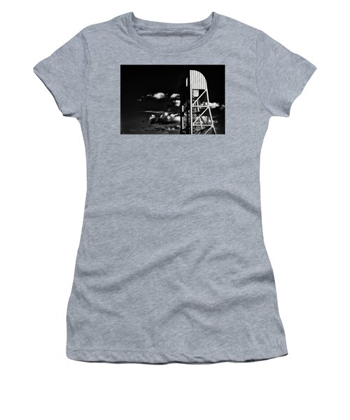Broadway Bridge Abstract 5 Monochrome Women's T-Shirt (Athletic Fit)