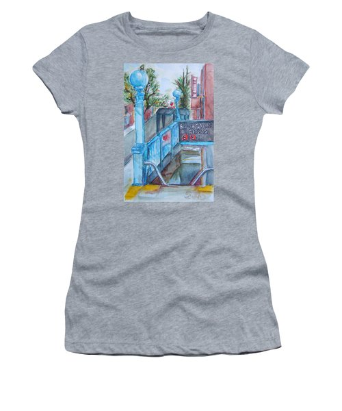 Brooklyn Subway Stop Women's T-Shirt (Athletic Fit)