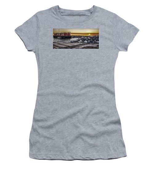 Brooklyn Waterfront Sunset Women's T-Shirt (Junior Cut) by Jeffrey Friedkin