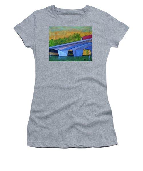 Brunswick River Bridge Women's T-Shirt (Junior Cut) by Paul McKey
