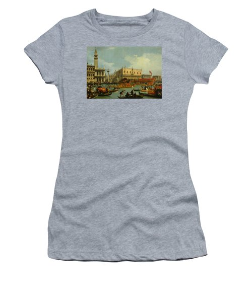 Bucentaur's Return To The Pier By The Palazzo Ducale Women's T-Shirt
