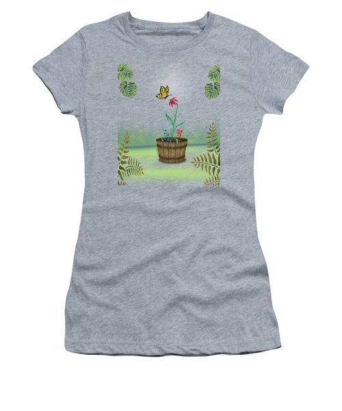 Bucket Butterfly 1 Women's T-Shirt (Athletic Fit)