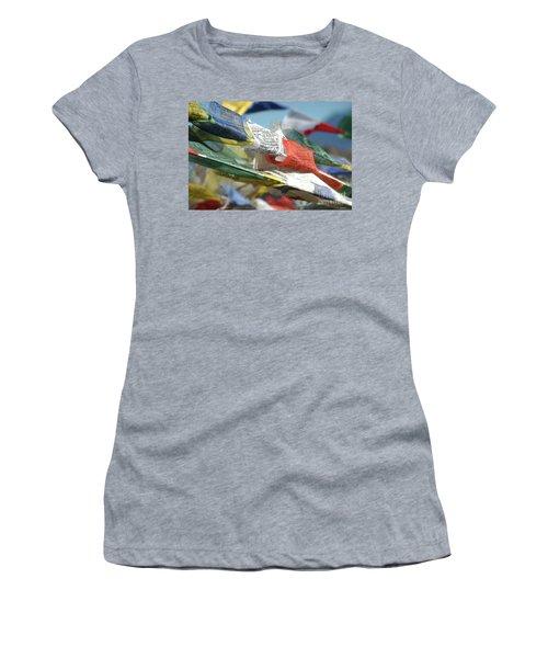 Buddhist Prayer Flags Women's T-Shirt