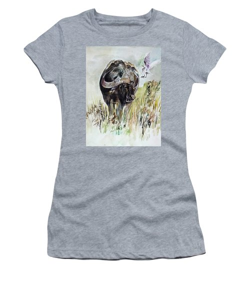 Buffalo Women's T-Shirt (Junior Cut) by Khalid Saeed
