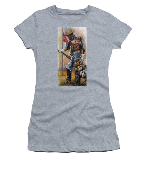 Buffalo Soldier Outfitted Women's T-Shirt (Junior Cut) by Harvie Brown
