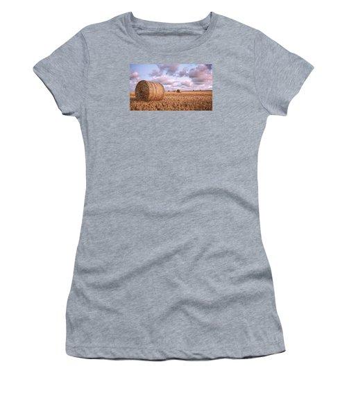 Bundy Hay Bales #1 Women's T-Shirt (Junior Cut) by Brad Grove