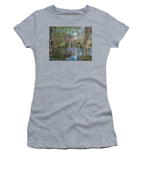 Women's T-Shirt (Junior Cut) featuring the photograph Burke Hall Cypress Lake by Gregory Daley  PPSA