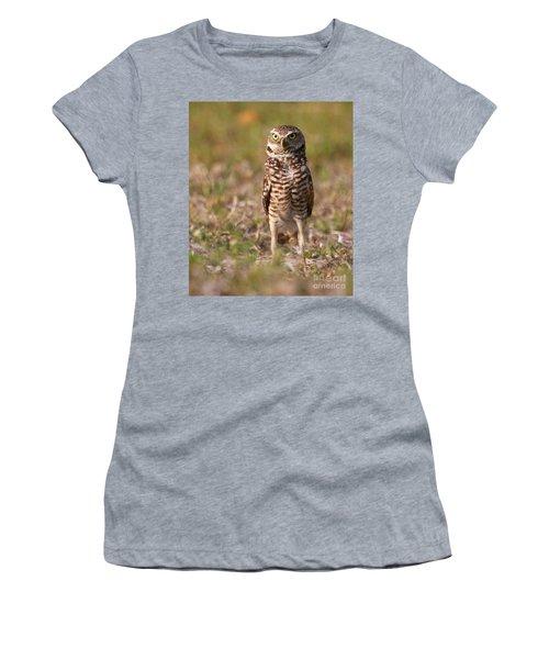 Women's T-Shirt (Junior Cut) featuring the photograph Burrowing Owl Standing Tall by Myrna Bradshaw