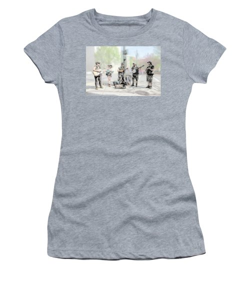 Busker Quintet Women's T-Shirt (Junior Cut) by John Haldane