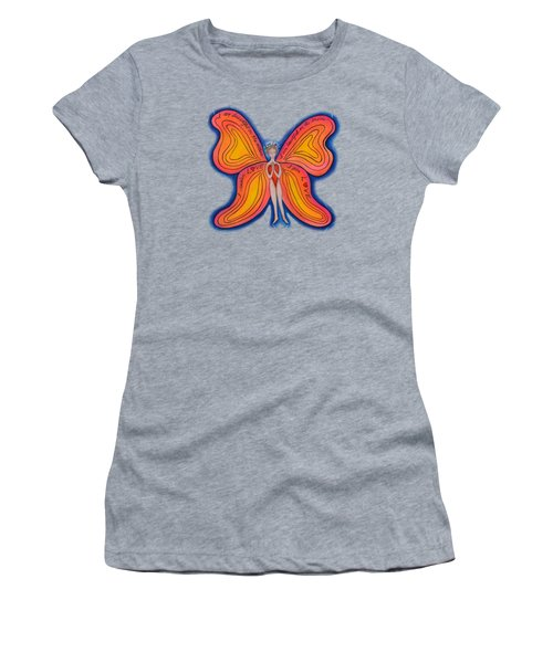 Women's T-Shirt (Junior Cut) featuring the painting Butterfly Mantra by Deborha Kerr