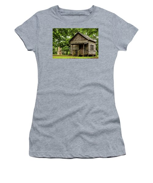 Cabin At Fort Washita Women's T-Shirt (Athletic Fit)