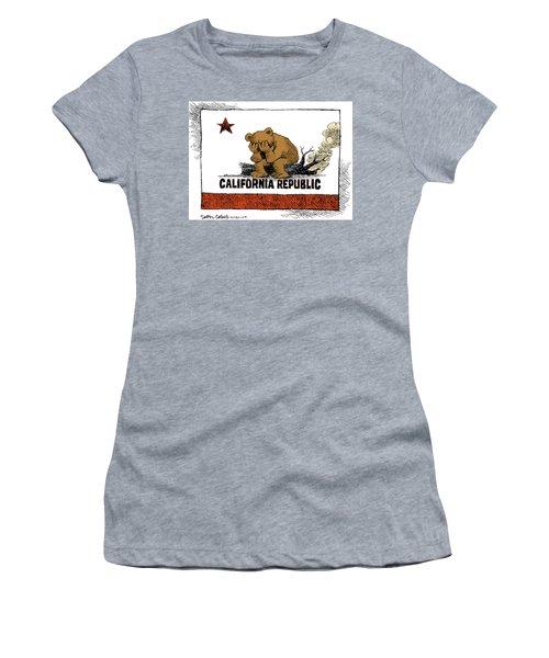 California Fire Bear Grieves Women's T-Shirt