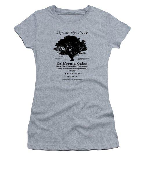 California Oak Trees - Black Text Women's T-Shirt