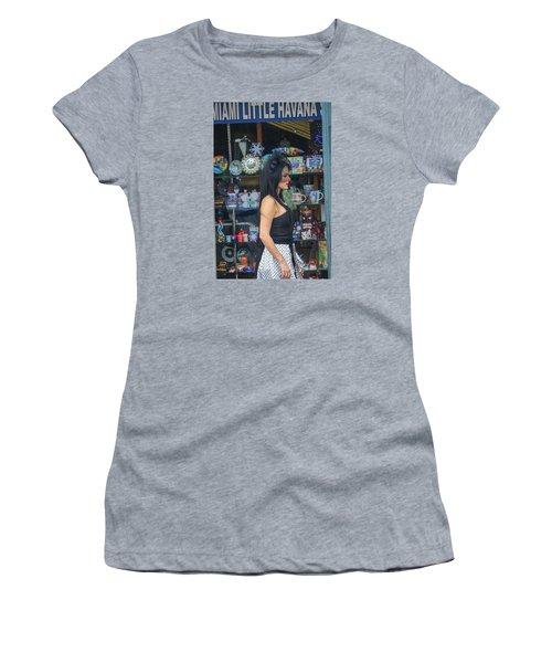 Calle Ocho Model Women's T-Shirt (Athletic Fit)