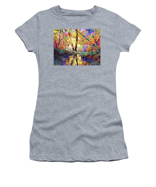 Calm Reflection Women's T-Shirt (Athletic Fit)
