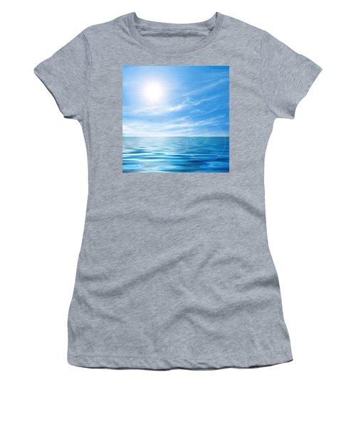 Calm Seascape Women's T-Shirt (Athletic Fit)