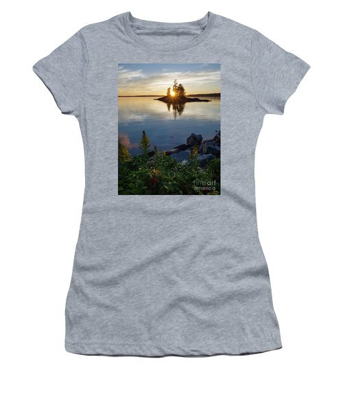 Calm Water At Sunset, Harpswell, Maine -99056-99058 Women's T-Shirt (Athletic Fit)