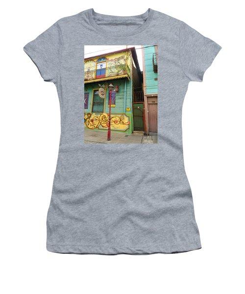 Caminito La Boca Women's T-Shirt (Junior Cut) by Silvia Bruno
