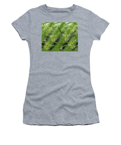 Women's T-Shirt featuring the photograph Camo Frog Dragonfly by Rockin Docks Deluxephotos