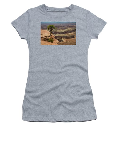 Women's T-Shirt (Athletic Fit) featuring the photograph Canyonlands by Gary Lengyel