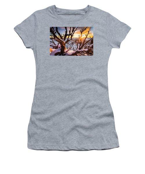 Canyonlands Winter Sunset Women's T-Shirt