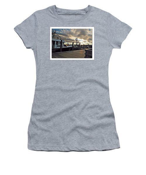 Women's T-Shirt (Junior Cut) featuring the photograph Cape Cod Harbor by Joan  Minchak
