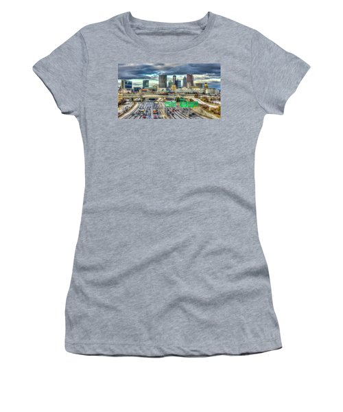 Capital Of The South Atlanta Skyline Cityscape Art Women's T-Shirt (Athletic Fit)