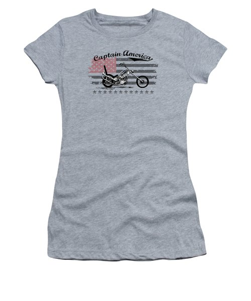 Captain America Women's T-Shirt (Athletic Fit)