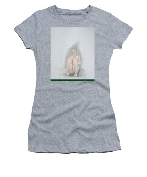 Women's T-Shirt (Junior Cut) featuring the mixed media Captive by TortureLord Art